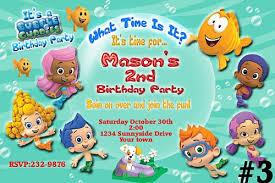 birthday invites best bubble guppies birthday party invitations