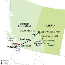 Canadian Rockies Map Western Canada By Rail On Rocky Mountaineer Cosmos Pavlus Travel