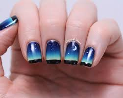 copycat claws night sky nail art