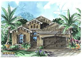 cottage style house plan with mediterranean architectural touches