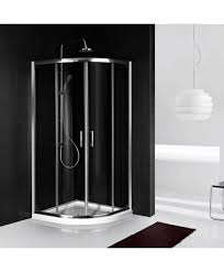 Shower Tray And Door by Quadrant Walk In Shower Enclosure Chrome Finish Quadrant Shower