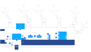 Miami Airport Terminal Map by