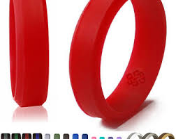 silicone wedding ring band by knot theory 6mm 8mm