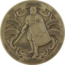 the whole armor of god ephesians 6 11 13 challenge coin usamm