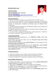 Sample Resume For Experienced Assistant Professor In Engineering College by Sample American Resume Template Test Download Bpo Call Centre