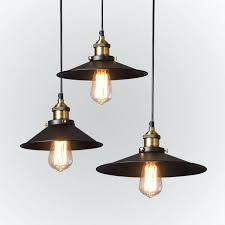 warehouse pendant lights style lighting vintage black country