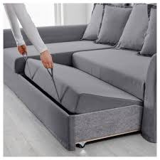 corner lounge with sofa bed chaise holmsund corner sofa bed nordvalla medium grey ikea