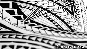 how to draw a tribal half sleeve design