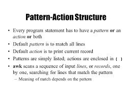 pattern matching using awk exles lecture 4 regular expressions grep sed and awk ppt download