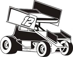 sprint car racing clipart