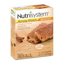 nutrisystem morning mindset cinnamon raisin baked bars 1 5 oz 4