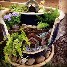 broken pot fairy garden fairy gardens pinterest fairy