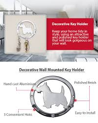 amazon com decorative wall mounted key holder triple key hooks