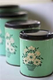 vintage kitchen canister metal kitchen canisters foter
