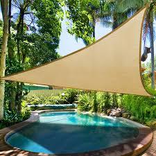 Backyard Shade Sail by 16 5 U0027 Triangle Sun Shade Sail 6 Degree Lower Outdoor Patio Lawn
