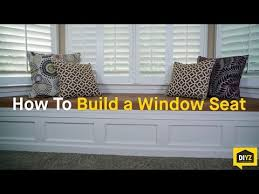 how to build a window seat youtube