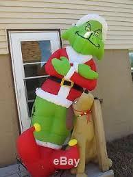 grinch yard decoration gemmy 8 grinch stole christmas max yard