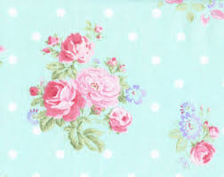 Shabby Chic Quilting Fabric by Shabby Rose Floral Fabric By The Yard Fat Quarter Pink U0026 Cream