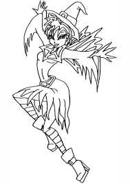 winx club fairy witch coloring free printable coloring pages