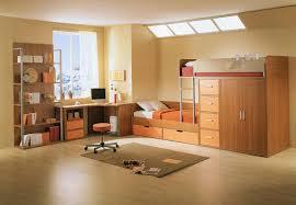 furniture contemporary kid bedroom decoration using light orange