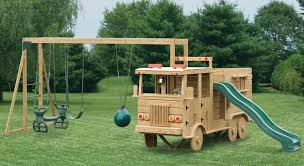Small Backyard Swing Sets by Wood Crew Cab Fire Truck Playset Virginia Playground Kids
