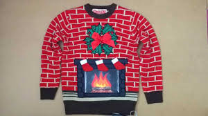 fireplace lightup jumper sweater advert 2015