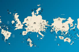 World Map Images Map Of Domain Names Flips The World On Its Head Wired Uk