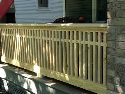 wood porch railing add your outdoor living space with deck railing