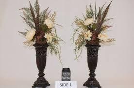 hand made silk flower arrangement fireplace mantel decor dining