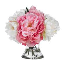 Peonies Bouquet Diane James Home Blooms Pink And White Peony Bouquet Gracious Home