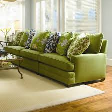 furniture cozy beige fabric sofa with nice brown cushion the