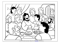 Coloring Page Meals With Jesus The Last Supper Last Supper Coloring Page