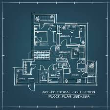 blueprint floor plan architectural floor plan two bedrooms apartment royalty