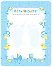 illustration of a baby shower invitation card border frame