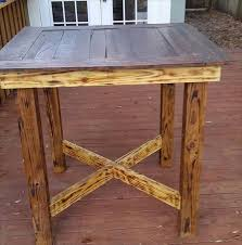 Build Wood End Tables by Best 25 High Top Tables Ideas On Pinterest Diy Pub Style Table