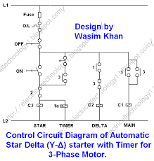 3 phase motor starting method by automatic star delta starter