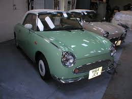 nissan figaro immaculate green nissan figaro in left hand drive at the figs4u