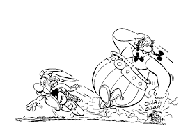 printable cartoon coloring pages for kids asterix and obelix