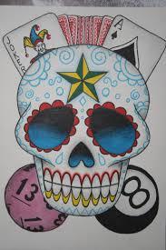 sugar skull tattoo design by itchysack on deviantart