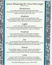 wedding blessing words virginia s such as it is seven blessings for one marriage