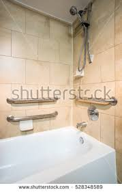 Bathtub Grab Bars Handicapped Access Bathroom Grab Bars Toilet Stock Photo 295152173