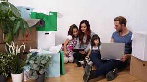 Home Design Options Happy Family Talking Children Help Parents In Home Design Options