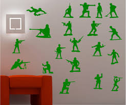 kids wall art toy soldiers army kids wall art sticker decal bedroom ebay
