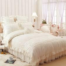 Ruffled Bed Set Royal Lace Edge Ruffled Bed Sets King Size