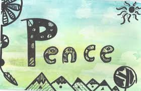 peace watercolor zentangle paintinghome decor for salehippie