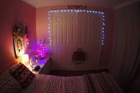 bedroom compact fairy lights painted wood wall also pink
