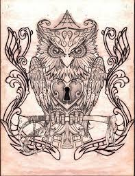 sugar skull owl images for tatouage
