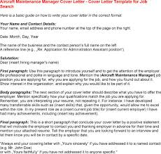 12 best images of aircraft maintenance cover letter sample
