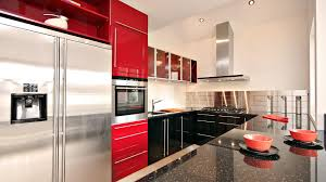 awesome red white black wood stainless glass modern design and