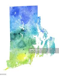Map Of Ri Map Of Rhode Island With Watercolor Texture Raster Illustration